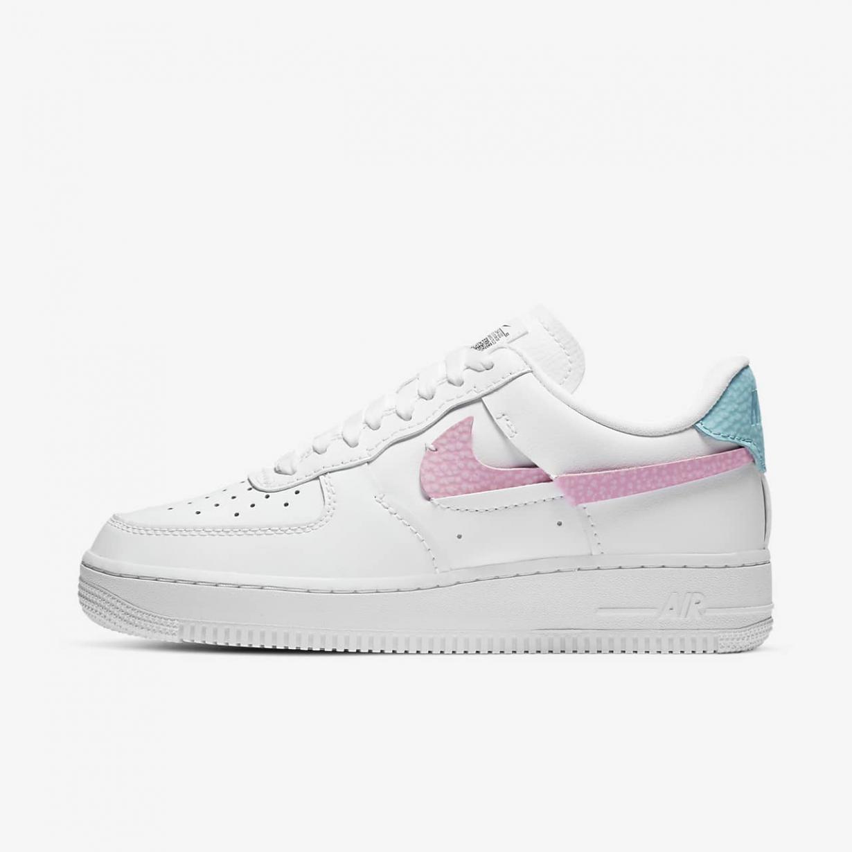 Lifestyle Femme | Air Force 1 LXX Blanc/Lever De Soleil Rose/Bleu-vert délavé | Nike < Gooddaytricities