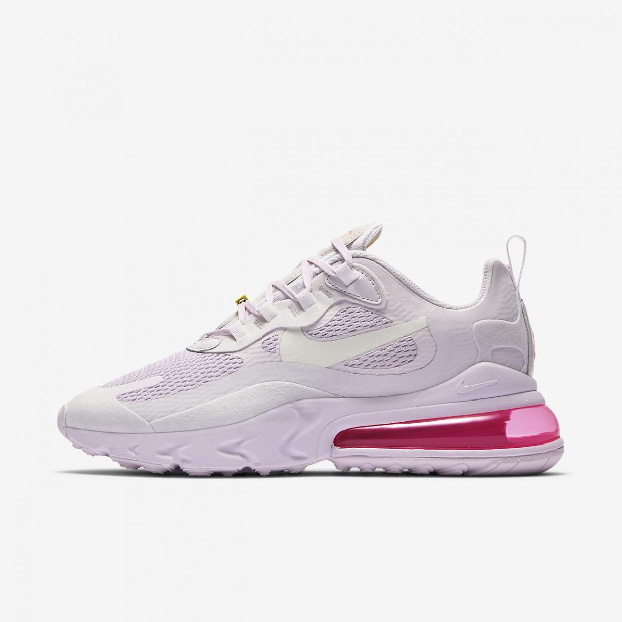 Lifestyle Femme | Air Max 270 React Violet clair/Jaune franc/Rose numérique/Voile | Nike < Gooddaytricities
