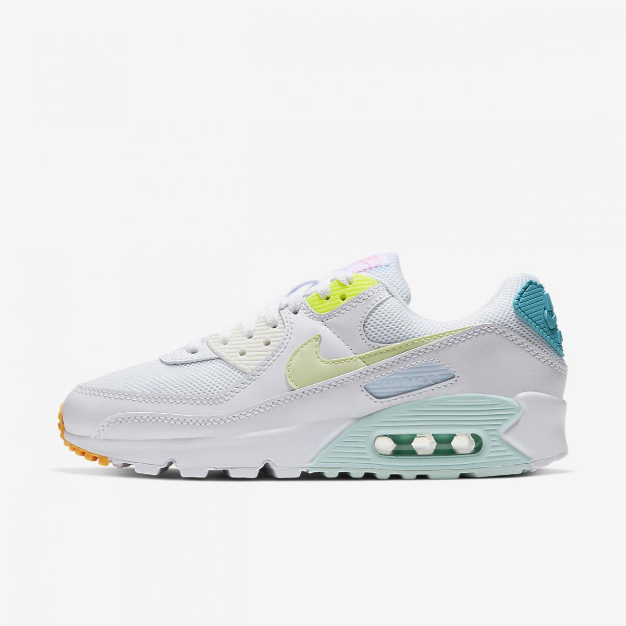 Lifestyle Femme | Air Max 90 Blanc/Vert aurore/Volt/Jaune pâle électrique | Nike < Gooddaytricities