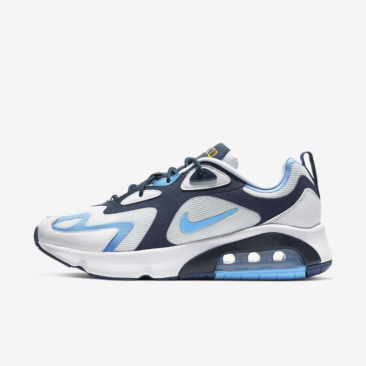 Lifestyle Homme | Air Max 200 Blanc/Bleu nuit marine/Or université/Bleu université | Nike < Gooddaytricities