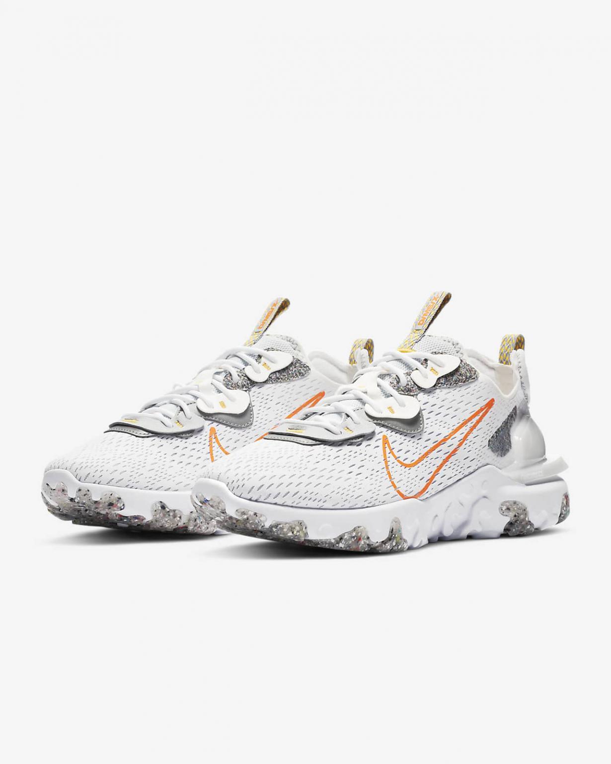 Lifestyle Homme   React Vision Blanc/Orange laser/Voile/Orange total   Nike < Gooddaytricities