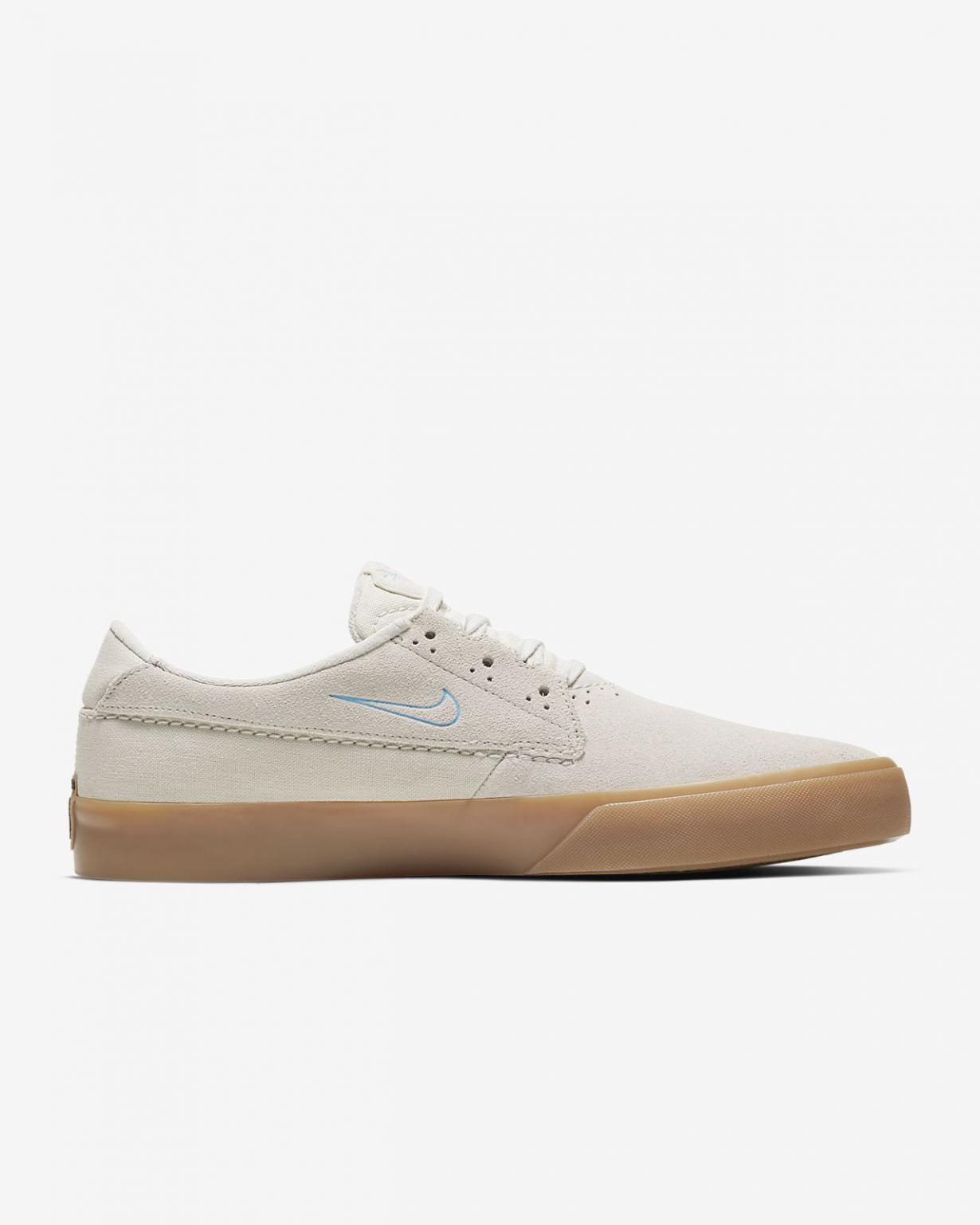 Skateboard Homme   SB Shane Blanc/Blanc/Gomme marron clair/Bleu laser   Nike < Gooddaytricities