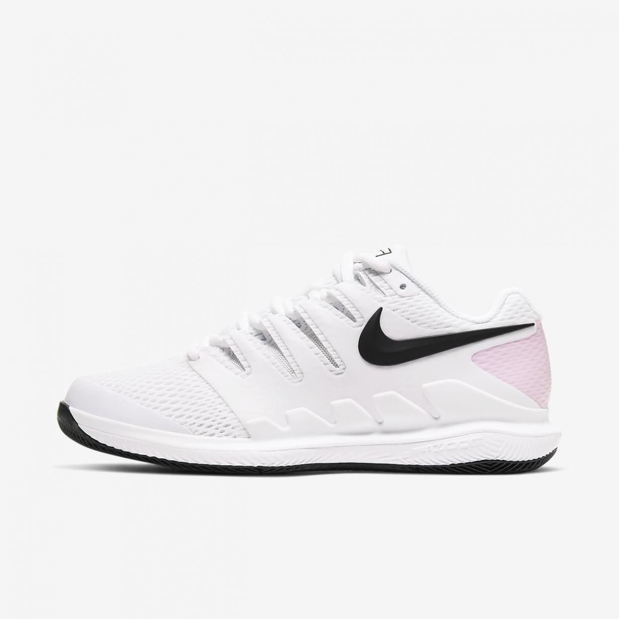 Tennis Femme | NikeCourt Air Zoom Vapor X Blanc/Mousse Rose/Noir | Nike < Gooddaytricities