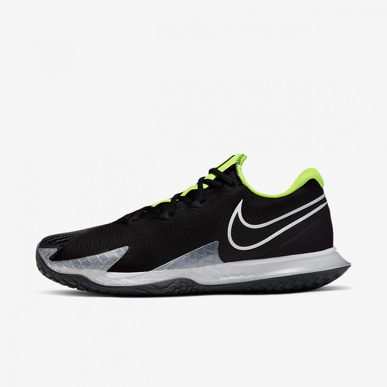 Tennis Homme | NikeCourt Air Zoom Vapor Cage 4 Noir/Volt/Gris fumée foncé/Blanc | Nike < Gooddaytricities